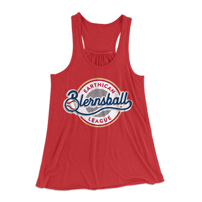 Earthican Blernsball League Women's Flowey Racerback Tank Top-Red - Famous IRL