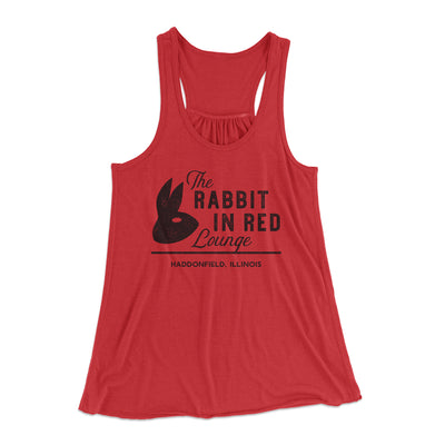 The Rabbit in Red Lounge Women's Flowey Racerback Tank Top-Red - Famous IRL
