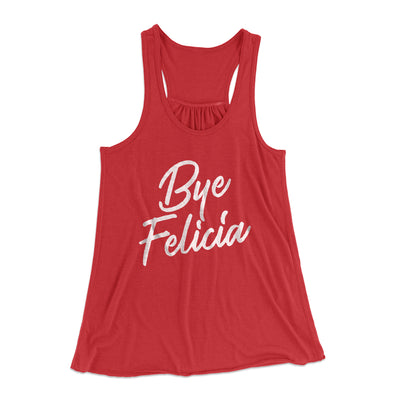 Bye Felicia Women's Flowey Racerback Tank Top - Famous IRL Funny and Ironic T-Shirts and Apparel