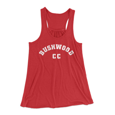 Bushwood Country Club Women's Flowey Racerback Tank Top-Red - Famous IRL