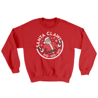 Santa Claws Ugly Sweater-Ugly Sweater-White Label DTG-Red-S-Famous IRL