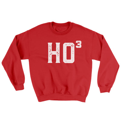 Ho Cubed Men/Unisex Ugly Sweater-Red - Famous IRL