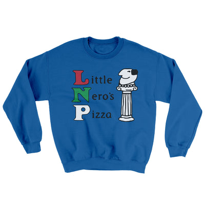 Little Nero's Pizza Men/Unisex Ugly Sweater-Royal - Famous IRL