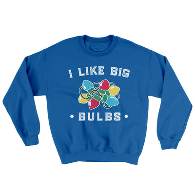 I Like Big Bulbs Men/Unisex Ugly Sweater-Royal - Famous IRL