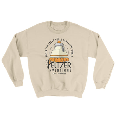 Peltzer Inventions Ugly Sweater-Ugly Sweater-White Label DTG-Sand-S-Famous IRL