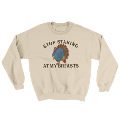 Stop Staring At My Breasts Ugly Sweater