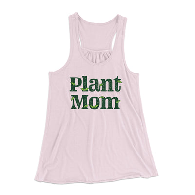 Plant Mom Women's Flowey Tank Top-Women's Flowey Racerback Tank Top-White Label DTG-Soft Pink-XS-Famous IRL
