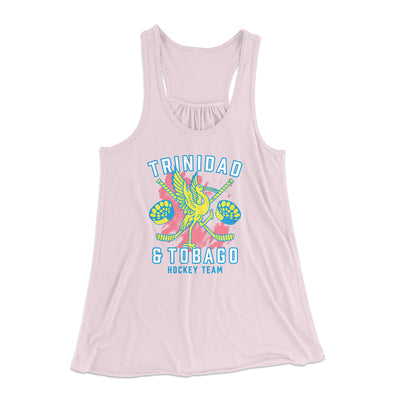 Trinidad & Tobago Hockey Women's Flowey Tank Top-Women's Flowey Racerback Tank Top-White Label DTG-Light Pink-XS-Famous IRL