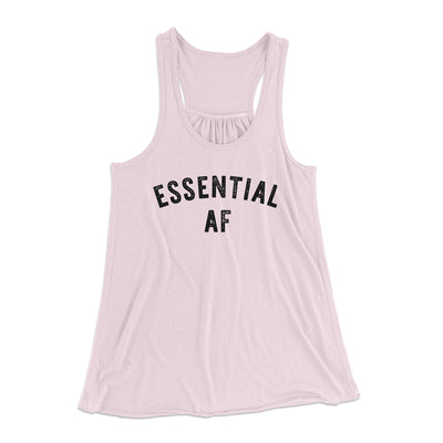 Essential AF Women's Flowey Tank Top-Women's Flowey Racerback Tank Top-White Label DTG-Soft Pink-XS-Famous IRL