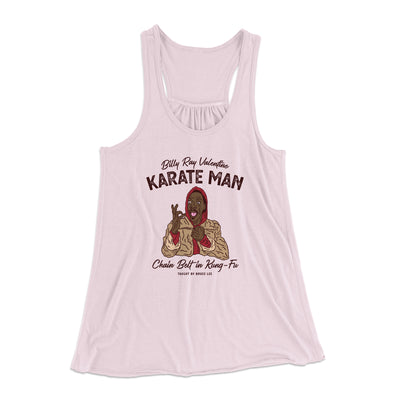 Billy Ray Valentine Karate Man Women's Flowey Racerback Tank Top-Soft Pink - Famous IRL