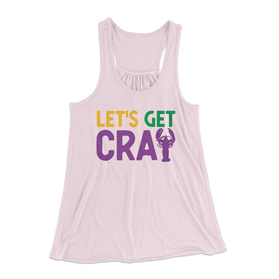 Let's Get Cray Women's Flowey Tank-Soft Pink - Famous IRL