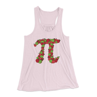 Apple Pi Women's Flowey Racerback Tank Top-Soft Pink - Famous IRL
