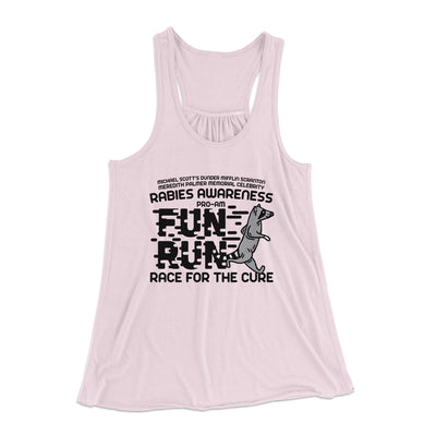 Rabies Awareness Fun Run Women's Flowey Racerback Tank Top-Soft Pink - Famous IRL