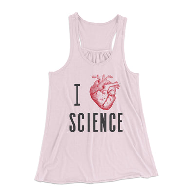 I Heart Science Women's Flowey Racerback Tank Top-Soft Pink - Famous IRL
