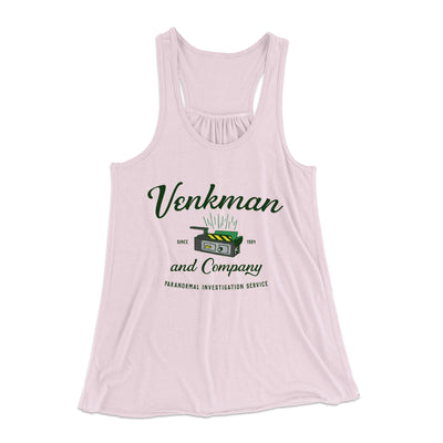 Venkman and Company Women's Flowey Racerback Tank Top-Soft Pink - Famous IRL