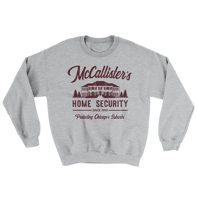 McCallister's Home Security Men/Unisex Ugly Sweater-Sport Grey - Famous IRL