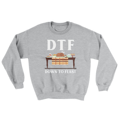 DTF: Down To Feast Ugly Sweater-Ugly Sweater-White Label DTG-Sport Grey-S-Famous IRL
