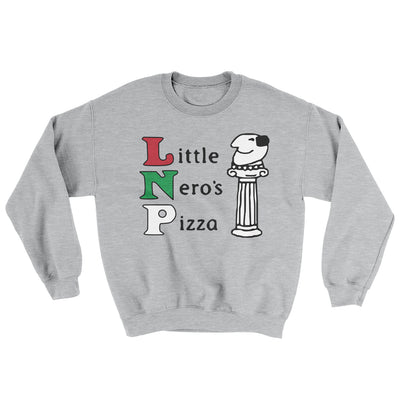 Little Nero's Pizza Men/Unisex Ugly Sweater-Sport Grey - Famous IRL
