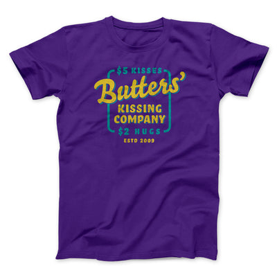 Butter's Kissing Company Men/Unisex T-Shirt-Men/Unisex T-Shirt-White Label DTG-Team Purple-S-Famous IRL