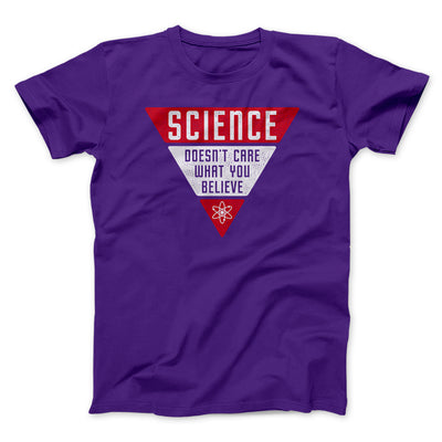Science Doesn't Care What You Believe Men/Unisex T-Shirt-T-Shirt-Printify-Team Purple-S-Famous IRL