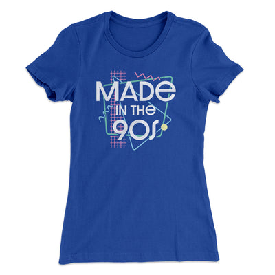 Made In The 90s Women's T-Shirt-Women's T-Shirt-White Label DTG-Royal-S-Famous IRL