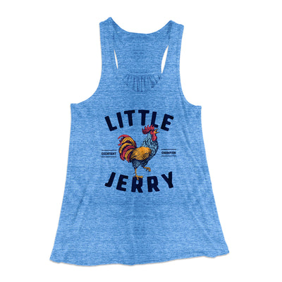 Little Jerry Women's Flowey Racerback Tank Top-True Royal Marble - Famous IRL