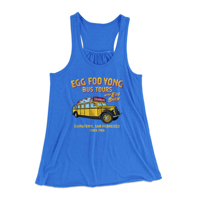 Egg Foo Yong Bus Tours Women's Flowey Tank