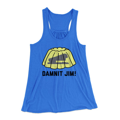 Damnit Jim! Women's Flowey Racerback Tank Top-True Royal - Famous IRL