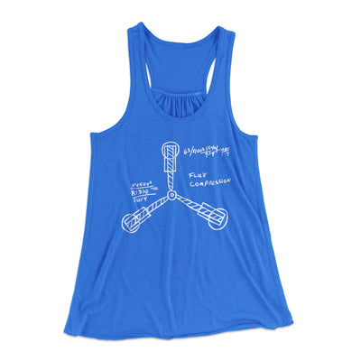 Flux Capacitor Women's Flowey Racerback Tank Top-True Royal - Famous IRL