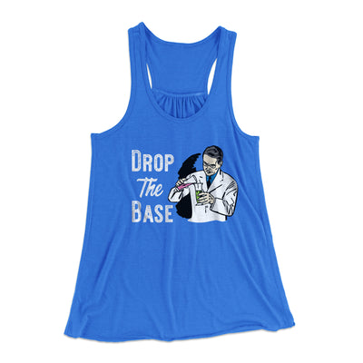 Drop the Base Women's Flowey Racerback Tank Top-True Royal - Famous IRL