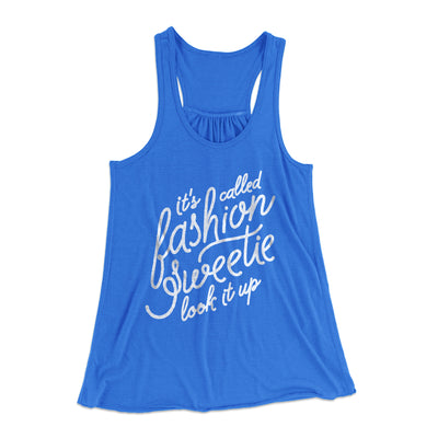 It's Called Fashion Sweetie Women's Flowey Racerback Tank Top-True Royal - Famous IRL