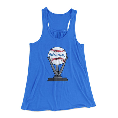 Babe Ruth Signed Ball Women's Flowey Racerback Tank