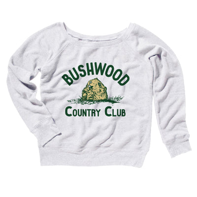 Bushwood Country Club Women's Off The Shoulder Sweatshirt - Famous IRL Funny and Ironic T-Shirts and Apparel