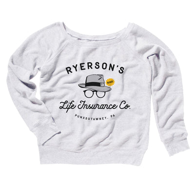 Ryerson's Women's Off The Shoulder Sweatshirt-White - Famous IRL
