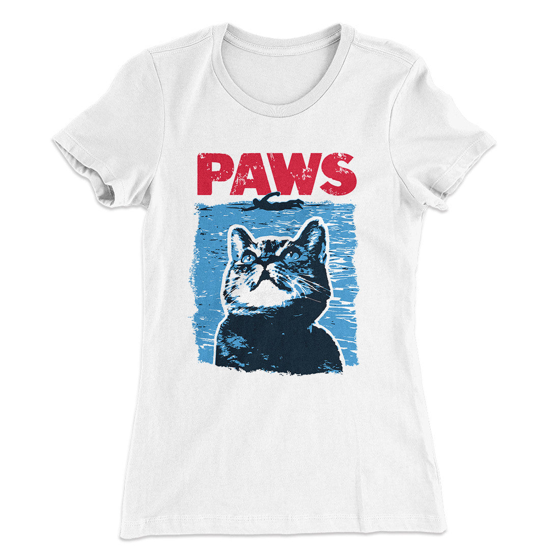 d70f66dc2 PAWS Women's T-Shirt-Solid White - Famous IRL