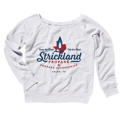 Strickland Propane Women's Off The Shoulder Sweatshirt-White - Famous IRL