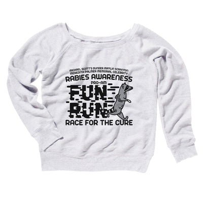 Rabies Awareness Fun Run Women's Off The Shoulder Sweatshirt-White - Famous IRL