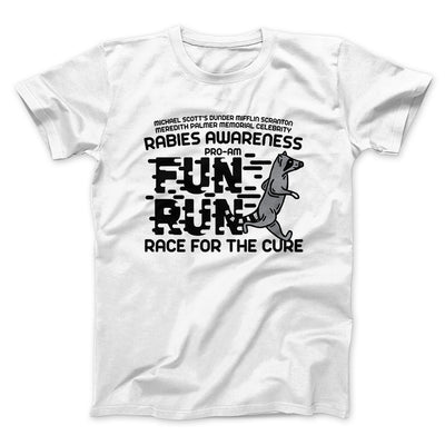Rabies Awareness Fun Run Men/Unisex T-Shirt-White - Famous IRL