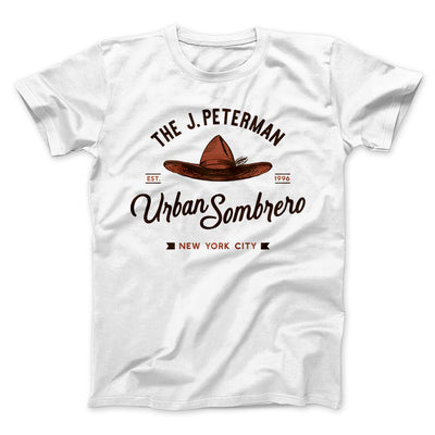 J. Peterman Urban Sombrero Men/Unisex T-Shirt-White - Famous IRL