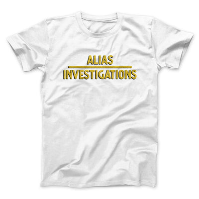 Alias Investigations Men/Unisex T-Shirt-White - Famous IRL