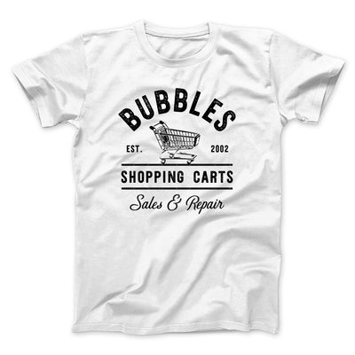 Bubbles Shopping Carts Men/Unisex T-Shirt-White - Famous IRL