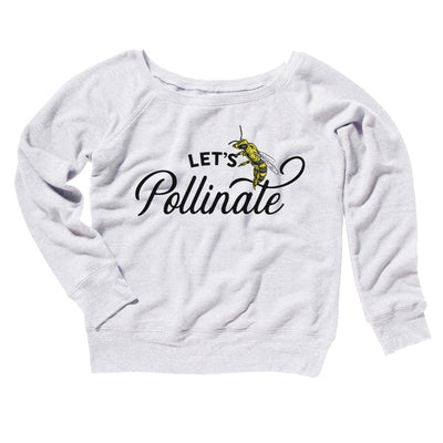 Let's Pollinate Women's Off The Shoulder Sweatshirt-White - Famous IRL