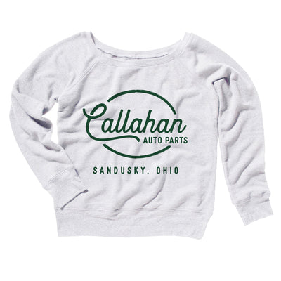 Callahan Auto Parts Women's Off The Shoulder Sweatshirt - Famous IRL Funny and Ironic T-Shirts and Apparel