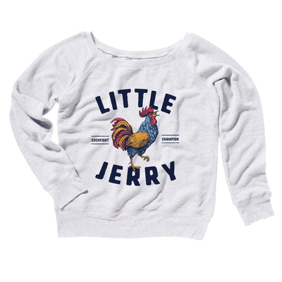 Little Jerry Women's Off The Shoulder Sweatshirt-White - Famous IRL