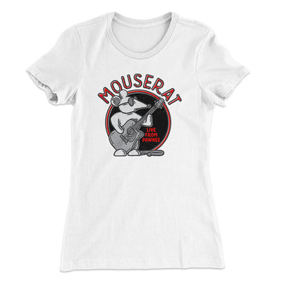 Mouse Rat Women's T-Shirt-Solid White - Famous IRL