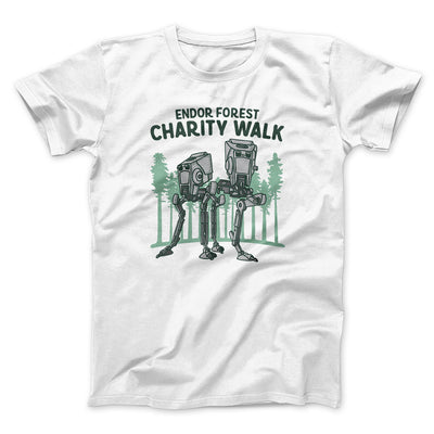 Endor Forest Charity Walk Men/Unisex T-Shirt-White - Famous IRL