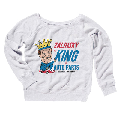 Zalinsky Auto Parts Women's Off The Shoulder Sweatshirt-White - Famous IRL