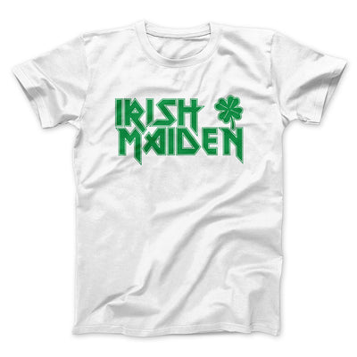 Irish Maiden Men/Unisex T-Shirt-White - Famous IRL