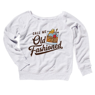 Call Me Old Fashioned Women's Off The Shoulder Sweatshirt-White - Famous IRL
