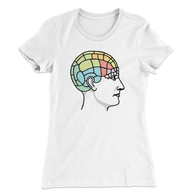 Phrenology Chart Women's T-Shirt-Solid White - Famous IRL